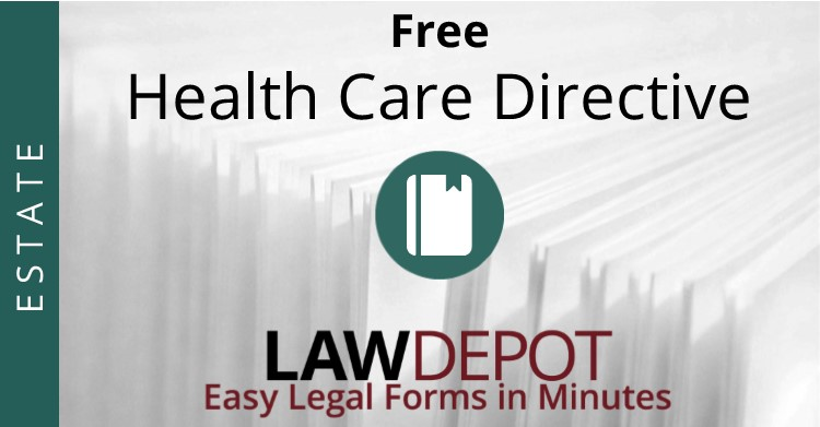 Living Will Forms  Free Health Care Directive Template Us