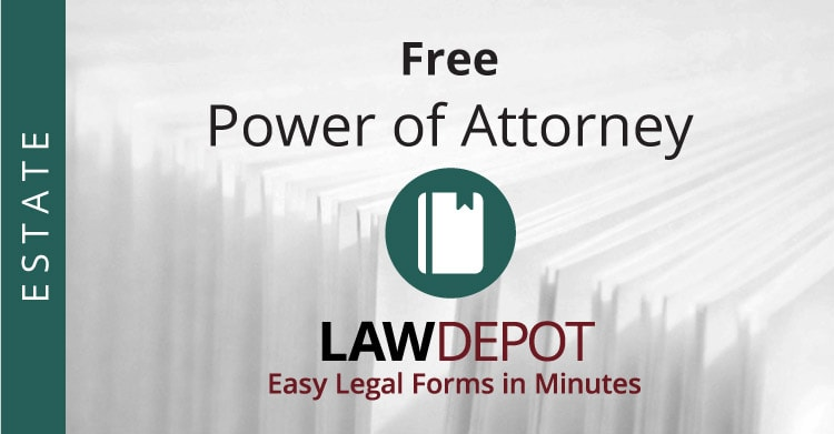 Power Of Attorney Form  Free Poa Forms Us  Lawdepot
