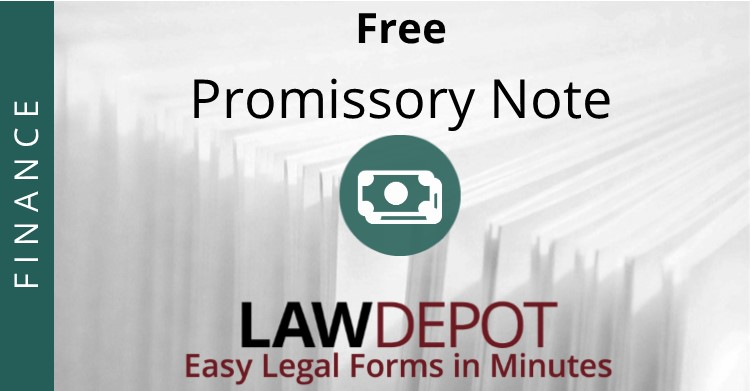 Promissory Note Template | Free Promissory Note Form (Us) | Lawdepot